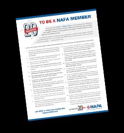 20 Reasons to Be a NAFA Member